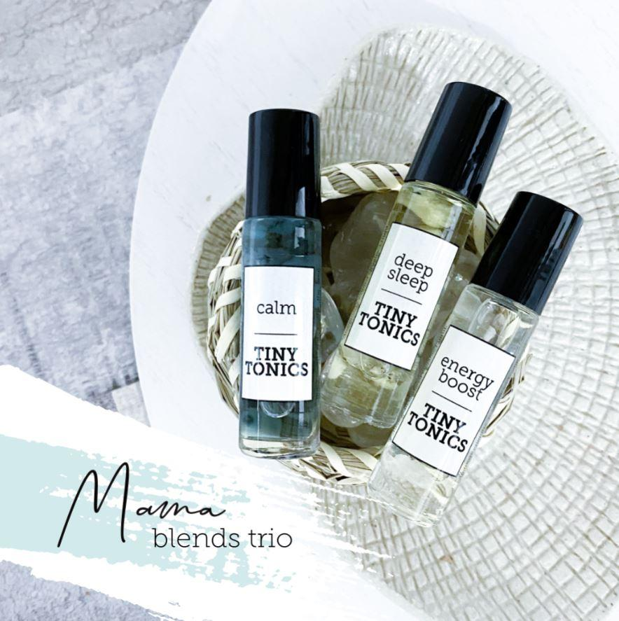 Essential Oil Roller Blends | Mama Blends Trio