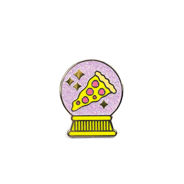 *Glitter* I See Pizza in Your Future Lapel Pin