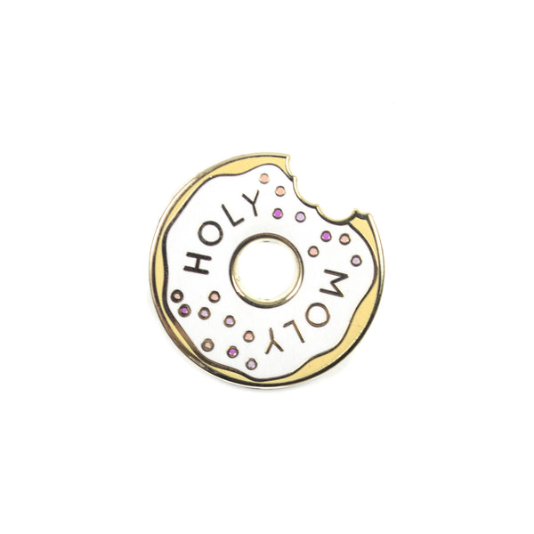 Holy Moly Lapel Pin - White