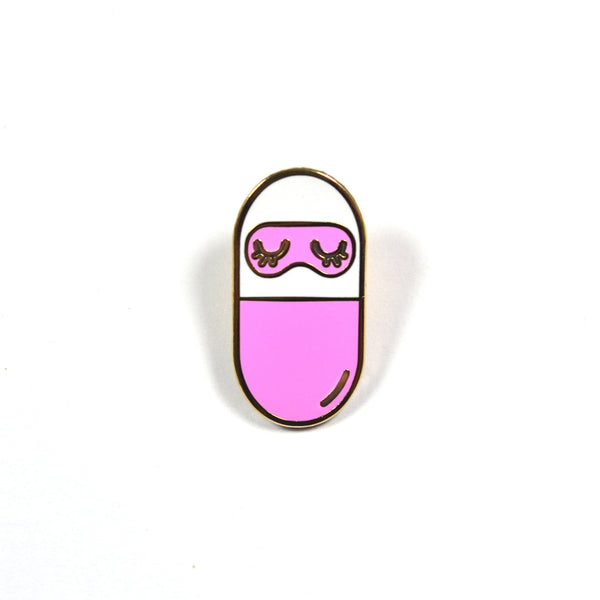Sleeping Pill Lapel Pin