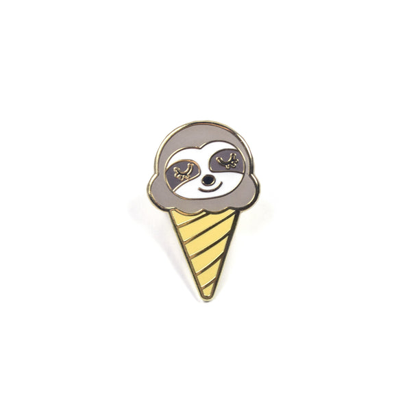 Sloth Ice Cream Lapel Pin