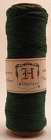 Hemp cord for macrame (0.5 mm thickness, green) - artisanshop