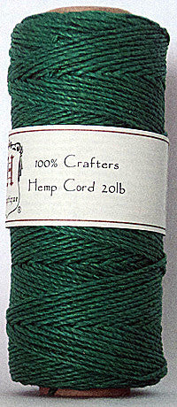 Hemp cord for macrame (1 mm thickness, green) - artisanshop