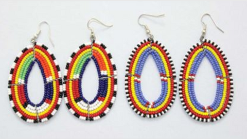MASSAI BEADED EARRINGS - AFRO'TIQUE