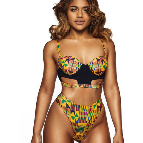 swim wear 2017 Bikini Brasil Set Swimwear Push-Up Underwire Padded Bra Swimsuit maillot de bain - AFRO'TIQUE