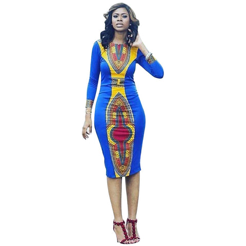 Boho Women Autumn Tunic Dress Hippie Punk Traditional Dashiki Top Shirt Dresses for African Clothing S-XL Y0906-45D - AFRO'TIQUE