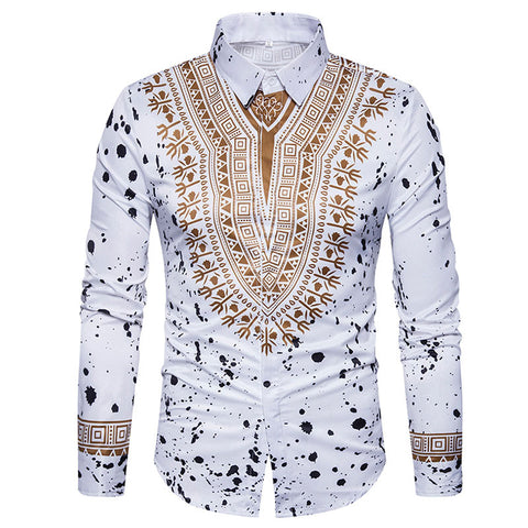 3D Print Shirt Men 2017 Traditional African Dashiki Men - AFRO'TIQUE