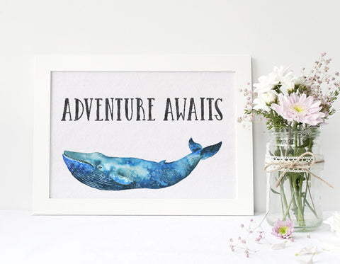Nursery Wall Art - Adventure Awaits