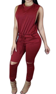 Elegant Red Wine Jumpsuit