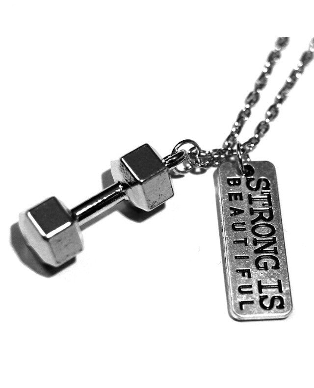 Unisex Dumbbell Necklace