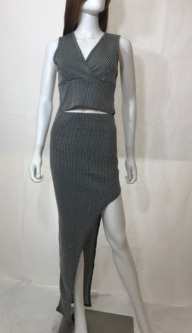 Walk in Fashion Striped Two Piece Set