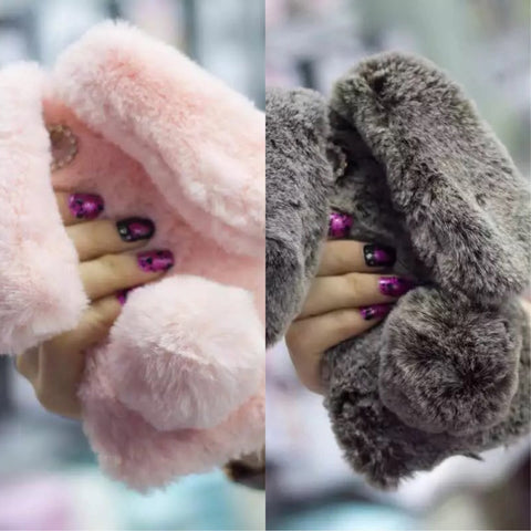 Cute Rabbit Fur Phone Case iPhone7 plus