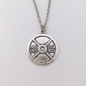 Unisex Weight Plate Necklace