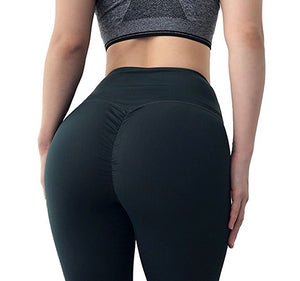 High Waist Bottom Scrunch Ruched Leggings