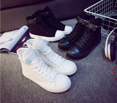Women's Canvas High-Top Sneakers