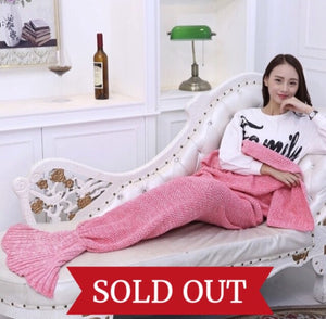 Cuddly Mermaid Tail Blanket
