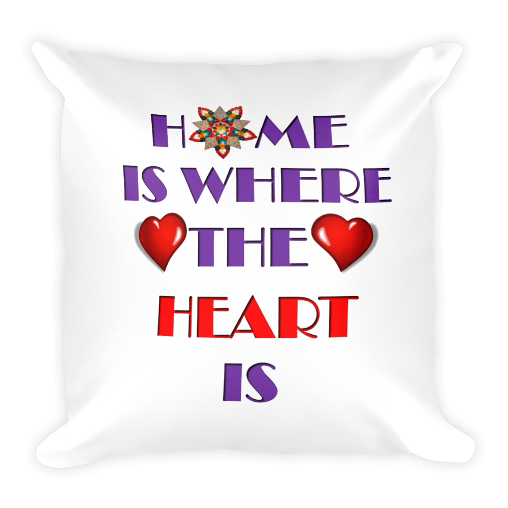 01-11-02-02 Pillow Case with Stuffing-Words to Live By, Home-Heart2
