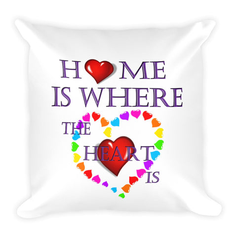 01-11-02-01 Pillow Case with Stuffing-Words to Live By, Home-Heart1