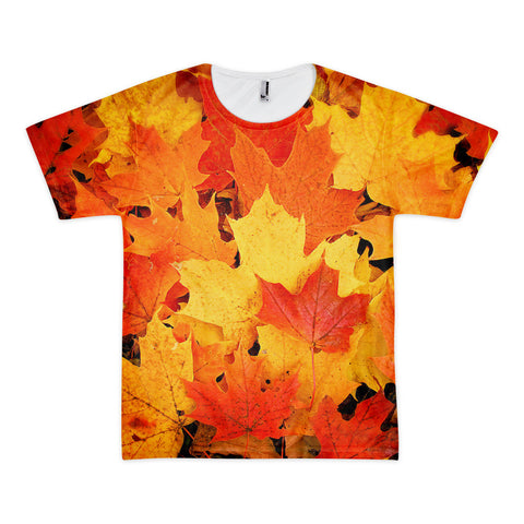 01-01-04-02 Shirt, Short Sleeve-Eva's Leafy Power, Fall Maple2 (Unisex)