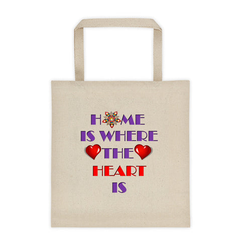 01-17-02-02 Tote bag-Words to Live By, Home-Heart2