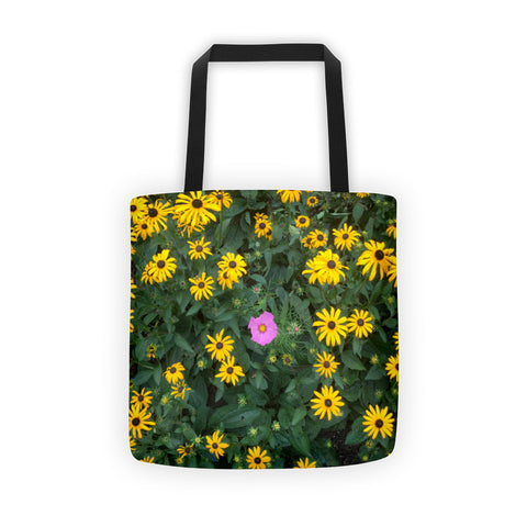01-17-03-01 Tote bag, Eva's Flowery Power, Sun Flowers plus 1