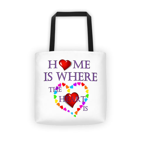 01-17-02-01 Tote bag-Sublimation, Words to Live By, Home-Heart1