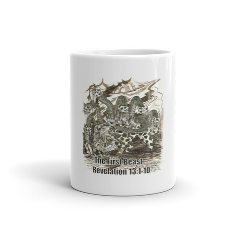 "01-15-01-01 Mug, Ceramic-Biblical, Revelation 13:1-10 ""The Beast…"""