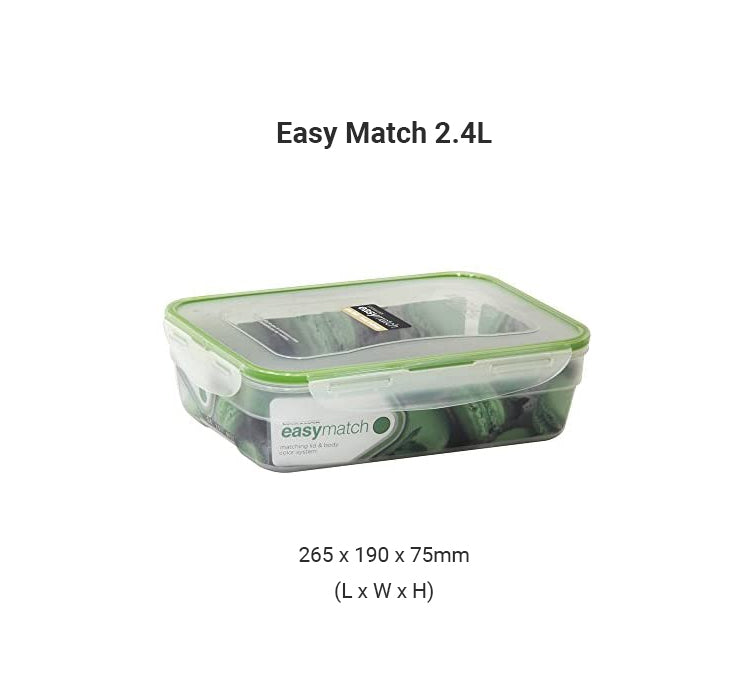 LocknLock Easy Match Airtight Food Container 2.4L