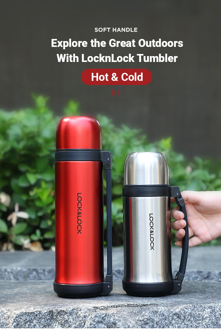 LocknLock Soft Handle Vacuum Tumbler is a great insulated bottle to keep you hydrated as you go off on your outdoor adventure.