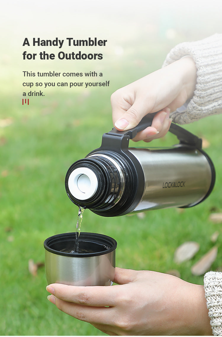 This handy tumbler is great for the outdoors. It comes with a cup so you can pour yourself a drink after a rewarding climb.