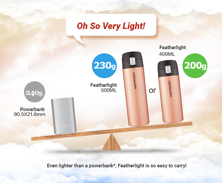 Oh so very light, the New Featherlight weights even lighter than your powerbank.
