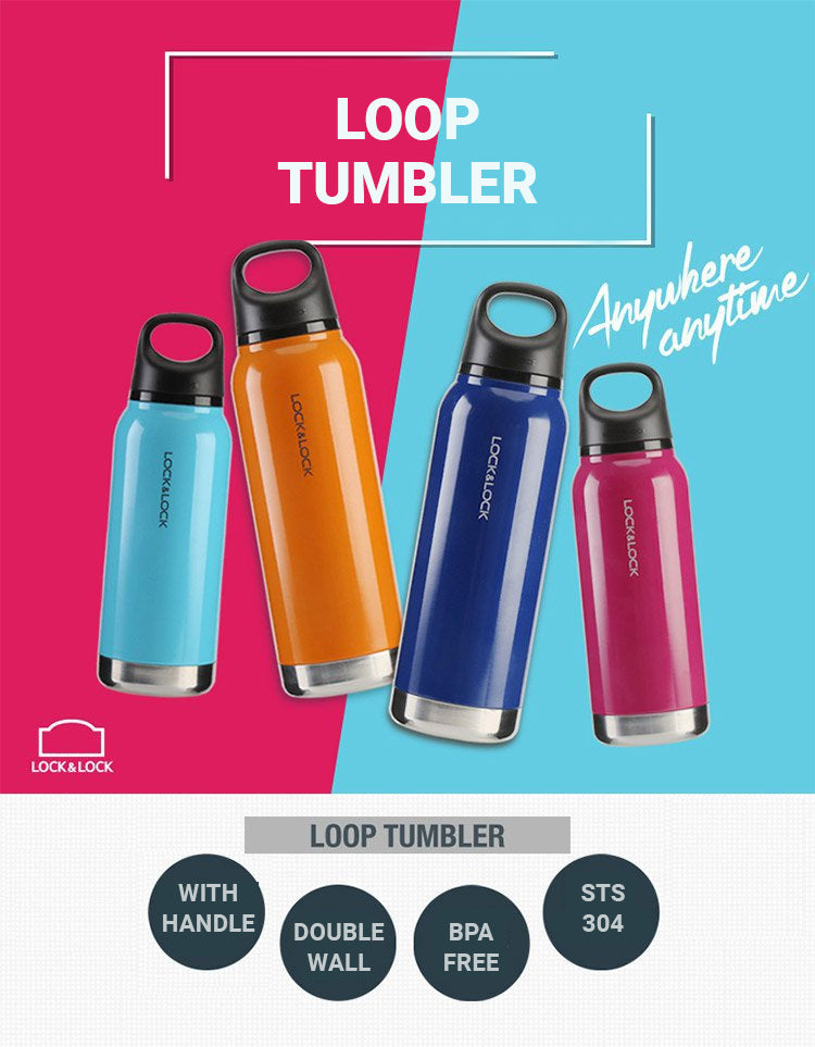LocknLock Loop Vacuum Tumbler is a tumbler you can bring anywhere, anytime.