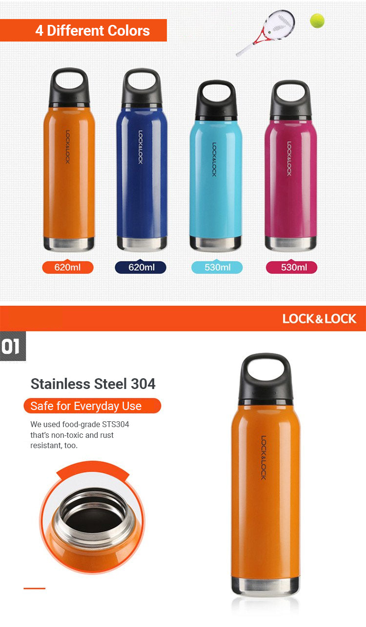 The Loop Tumbler comes in 4 different vibrant colors you can choose from. It is made of STS304 (Stainless Steel 304) that's anti-rust and safe for everyday use.