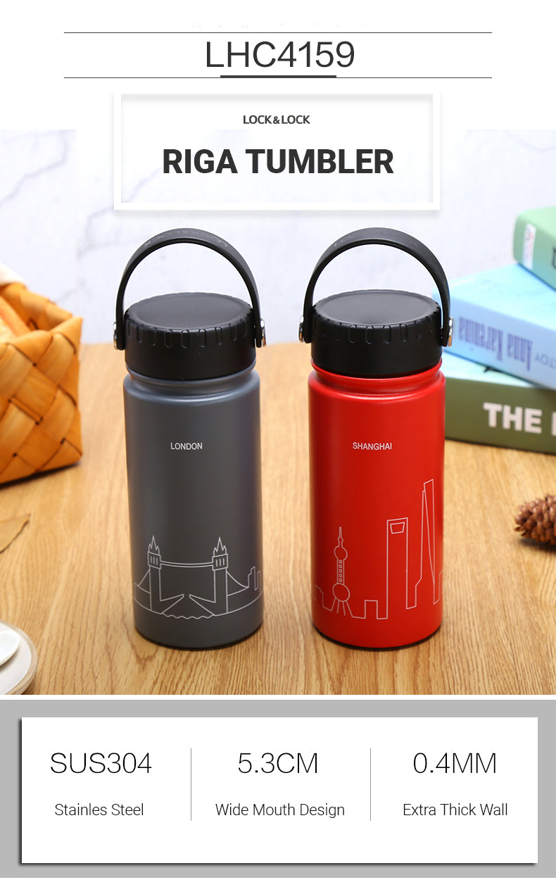 LocknLock Riga Tumbler is designed for the city explorers. A vacuum insulated tumbler that's jam packed with features to keep you hydrated as you wander the concrete jungle.