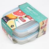 SQUARE BOWL FOOD CONTAINER 550ML (With Teal Silicone) - 2pcs Set with Sleeves