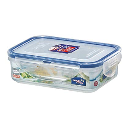 Lock & Lock HPL810C Rect. Foodkeeper with Divider 360ML