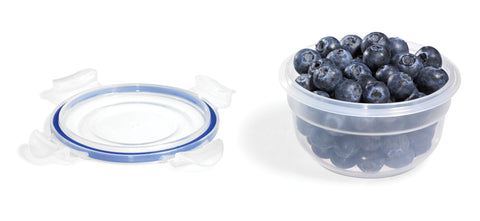 Easy Match Round Food Container 250Ml (Blue Silicone)