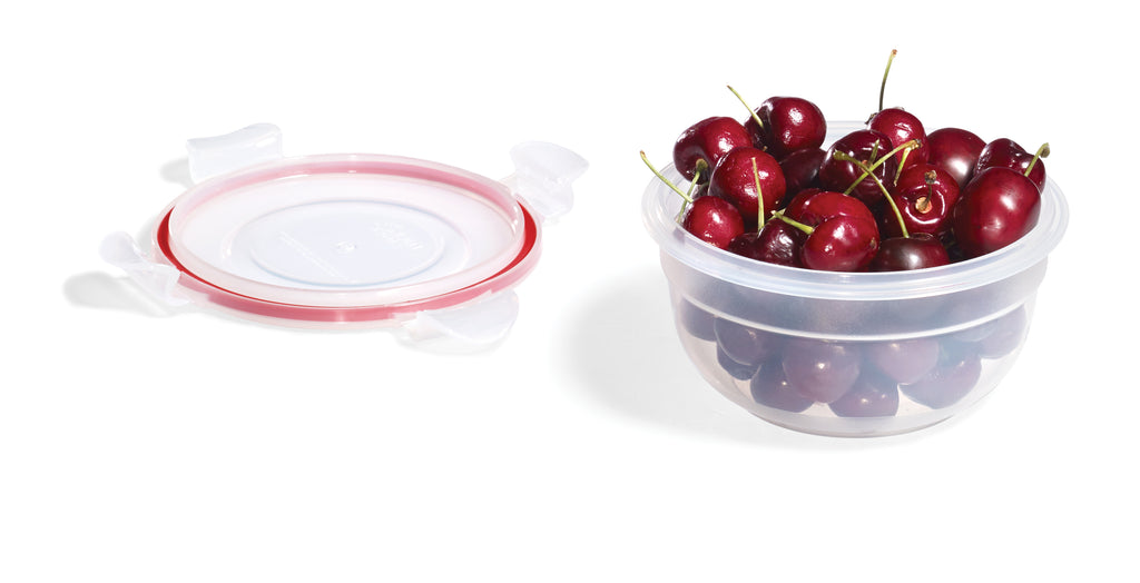 Easy Match Round Food Container 480mL (Red Silicone)