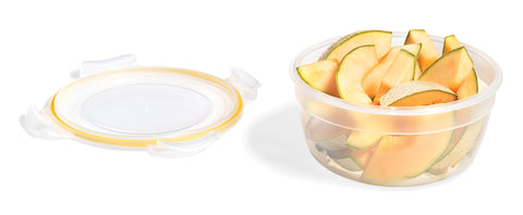 Easy Match Round Food Container 2.1L (Yellow Silicone)