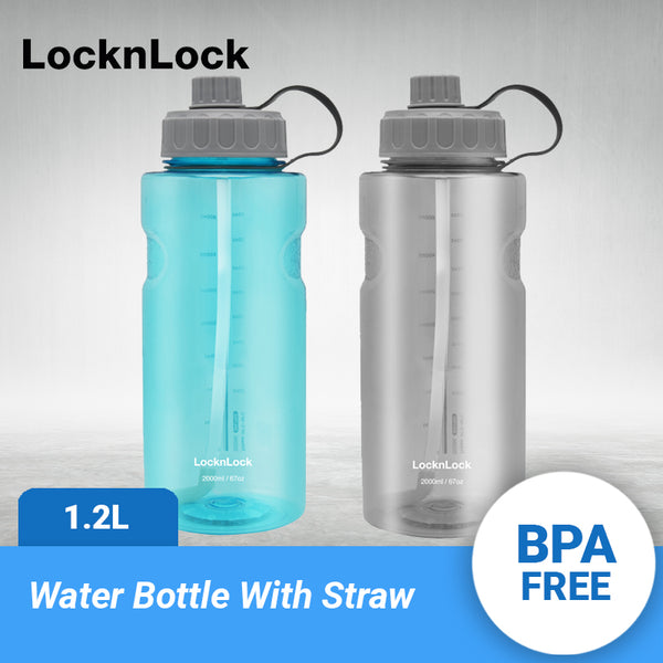 LocknLock Giant Sports Tritan Water Bottle with Straw 2.0L ABF903