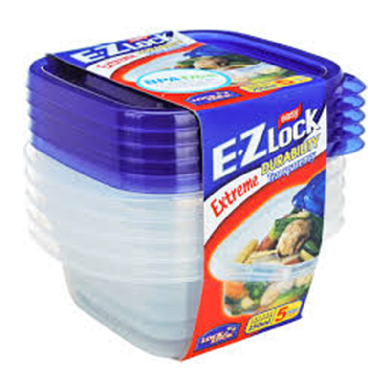 LocknLock EZ Lock Set of 5 Freezer Container 270ml