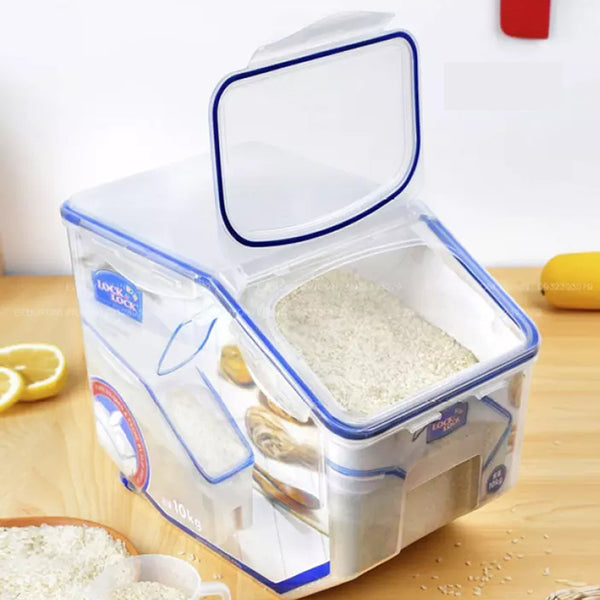 LocknLock Flip-Top Rice Caddy for 10kg Rice HPL510