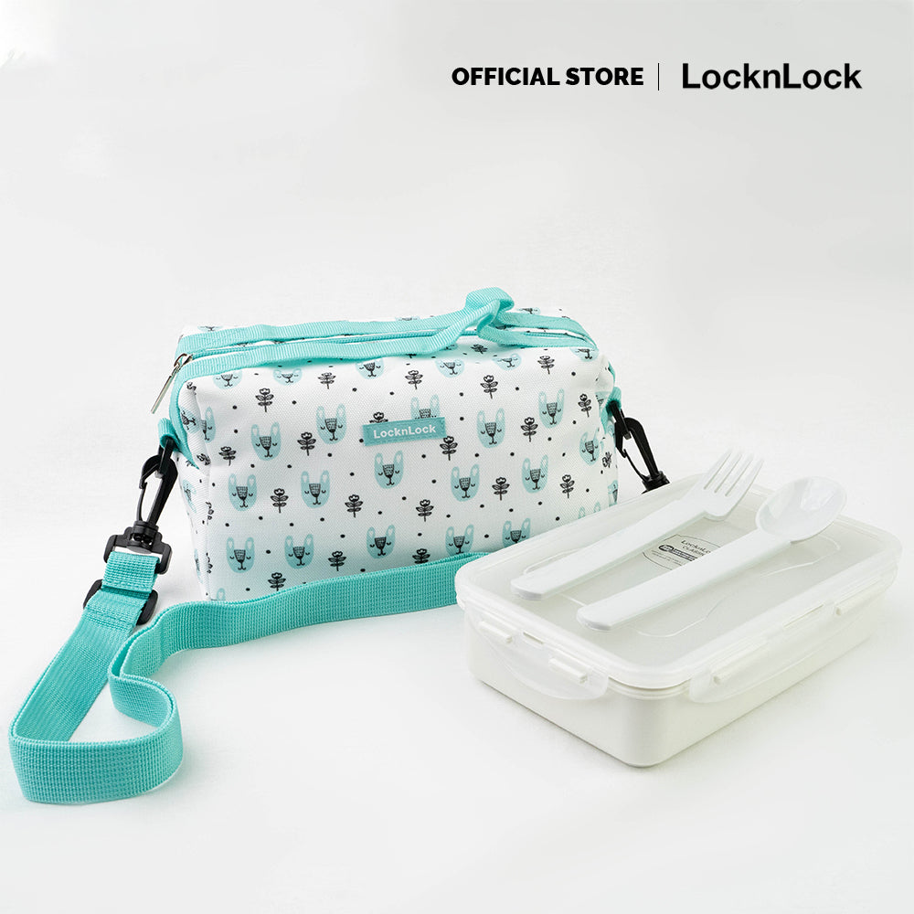 LocknLock New Thermal Insulated Lunch Bag Set with Strap for Kids HPL816S
