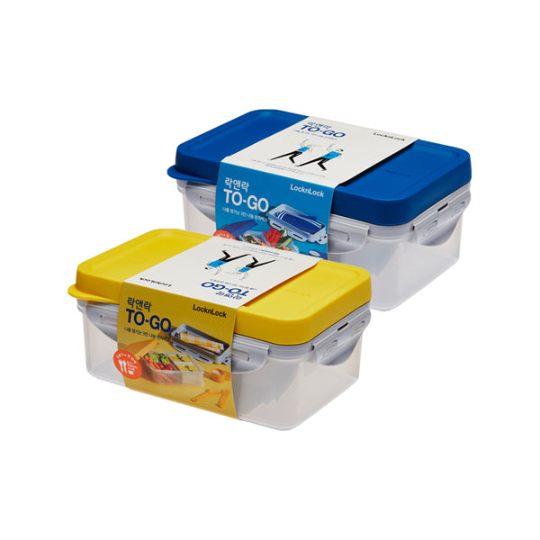 To-Go 3-Section Modern Airtight Lunch Box 1L