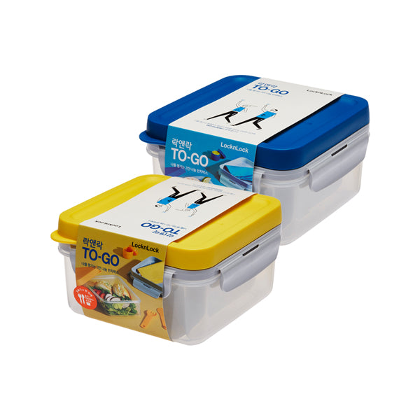 To-Go 2-Section Modern Airtight Lunch Box 1.2L