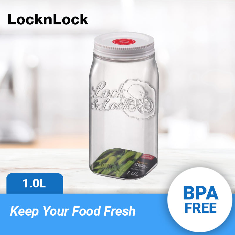 Lock and Lock Door Pocket Canister Square 1 Liter HTE531