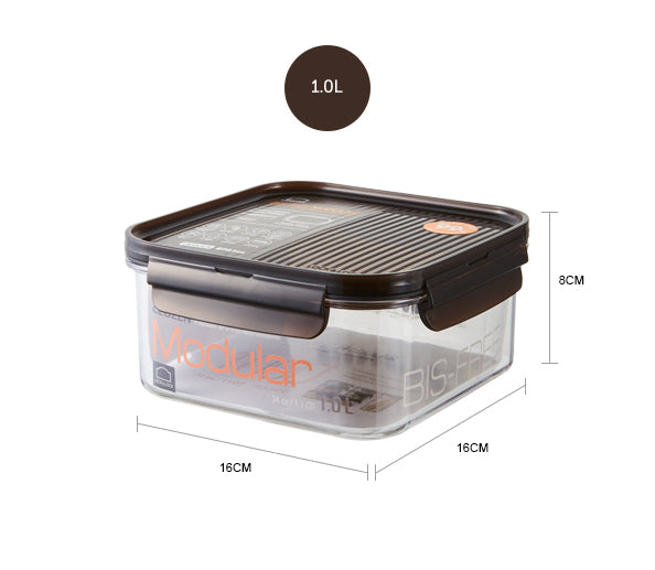 Lock&Lock LBF452 Bisfree Modular Square Container 1.0 L