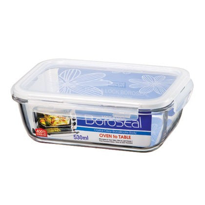 Lock & Lock LLG426 Oven Glass Rectangular Food Keeper 530mL