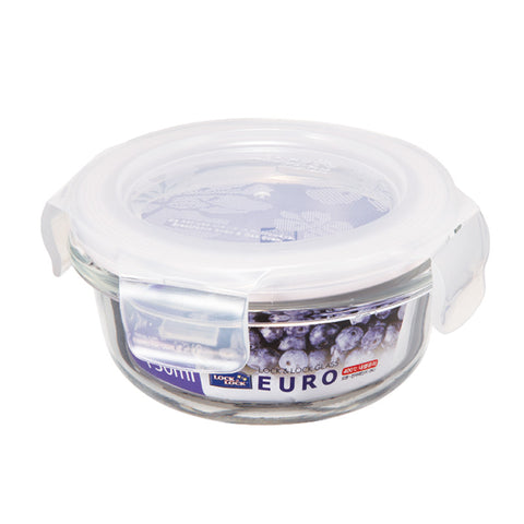 Lock & Lock LLG812 Oven Glass Round Food Keeper 130mL