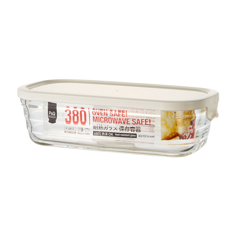 LocknLock Glass Easy Seal Oven Safe Rectangular Food Container 380ml P-0813